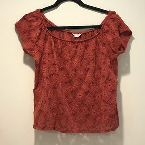 Cape Juby Red Lace Top
